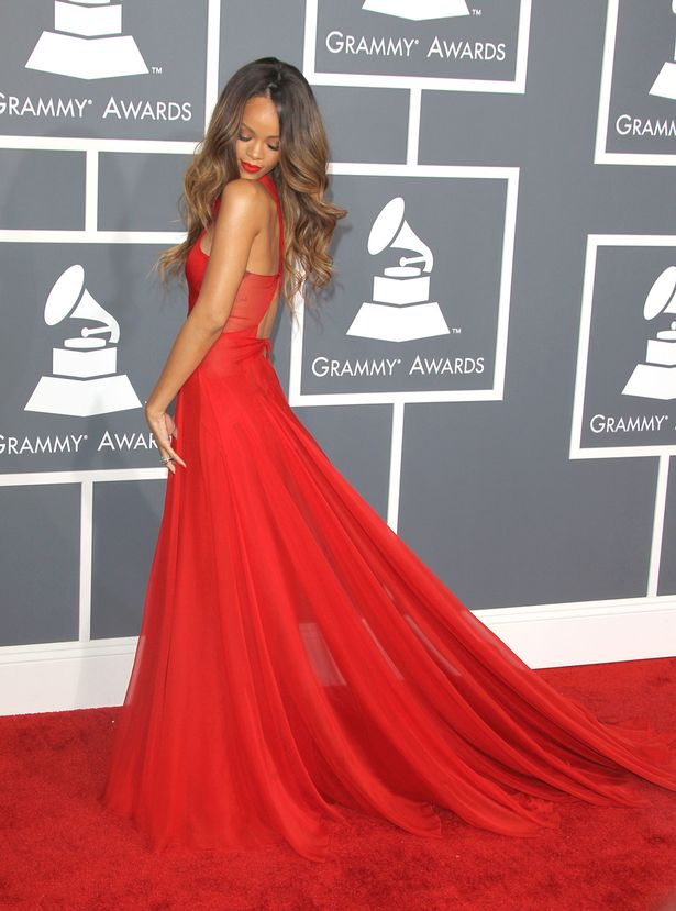 Rihanna+arrives+at+the+Grammy+Awards+2013+at+Staples+Center
